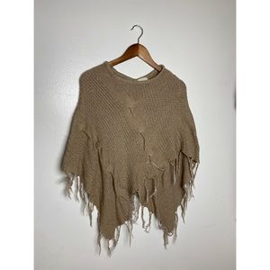 Forever 21 Poncho with Fringe